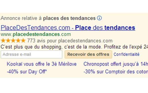 En bref : demande d'opt-in dans les AdWords Google, tri social sur La Redoute, eBay arrête d'afficher des pubs sur son application mobile