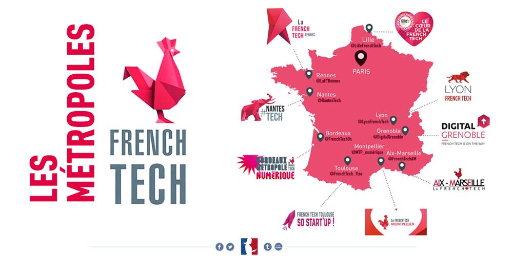 Les 9 premières métropoles FrenchTech